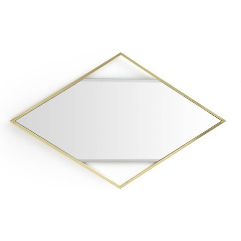 Reflet Brass Diamond-Shaped Mirror