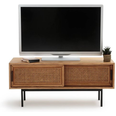 Waska Oak And Rattan Tv Unit, With 2 Doors