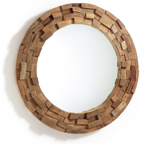 ROMANIA Teak Mosaic-Frame Mirror