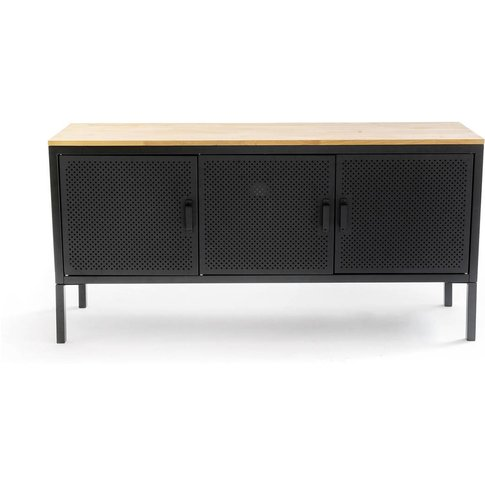 Agama Oak And Steel 3 Door Sideboard