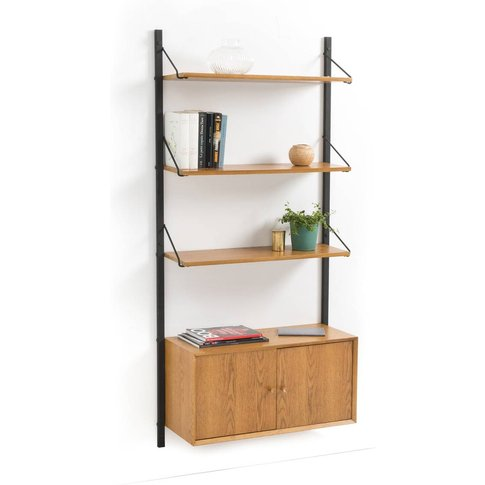 Quilda Wall Shelving Unit With 1 Cupboard