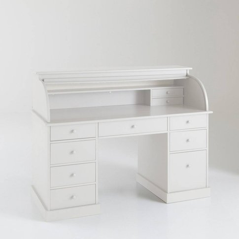 Adacs Roll-Top Desk With Double Cabinets In Solid