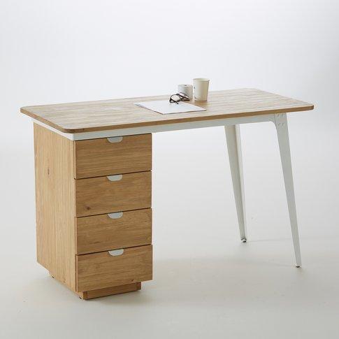 Hiba 4-Drawer Desk