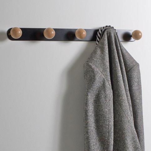 Agama 5-Hook Birch And Metal Coat Rack