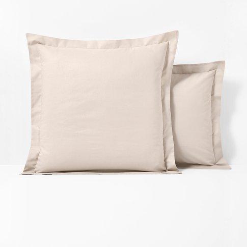 Cotton Single Pillowcase with Flat Ruffle