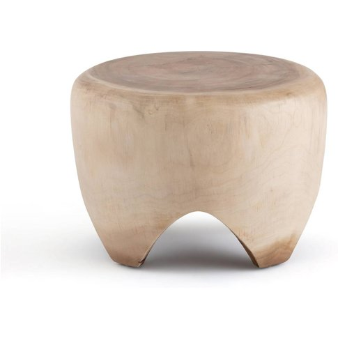 Jorkins Side Table In Solid Suar Wood