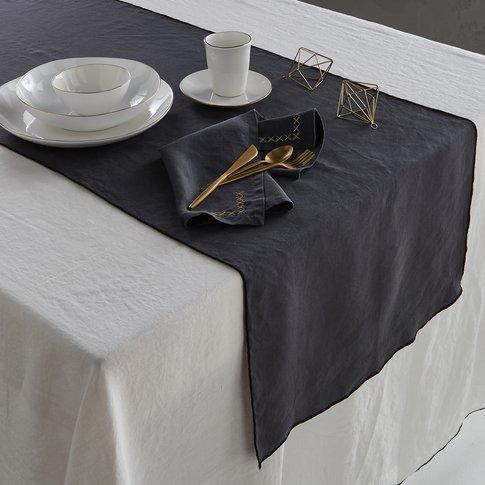 Taraka Pre-Washed Linen Table Runner