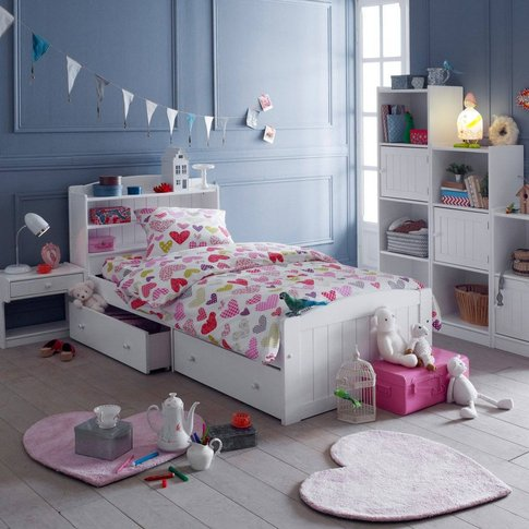 Gaby Bed Solid Pine Headboard And Drawers Without Slats