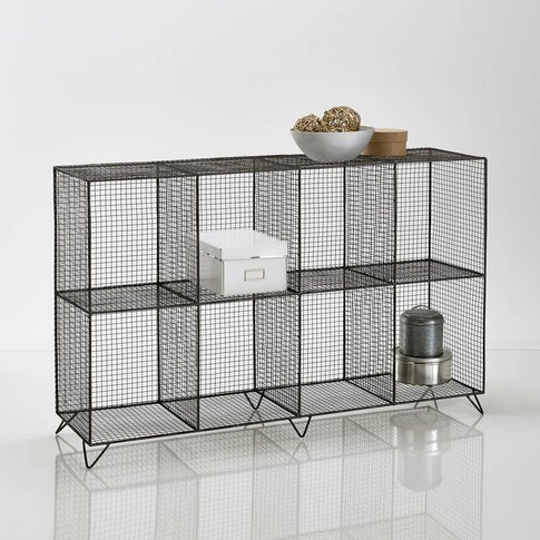 Areglo Industrial-Style Metal Wire Storage Unit