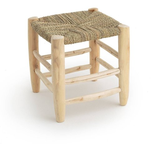 Ghada Moroccan-Style Wooden Stool
