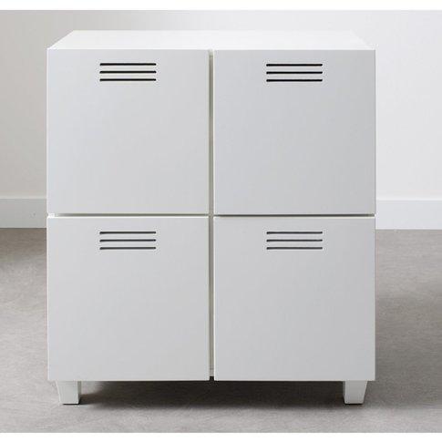 Hiba 4-Door Industrial Style Cabinet