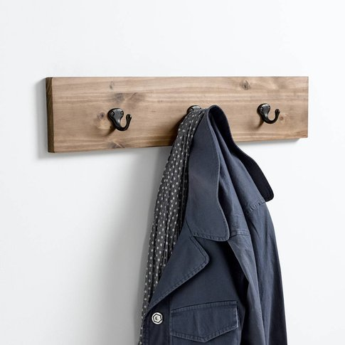 Hiba 3-Hook Pine Coat Rack