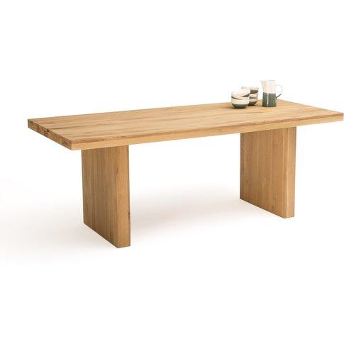 Vova Solid Oak Dining Table, Seats 6/8