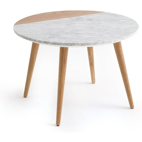 Crueso Oak & White Marble Coffee Table