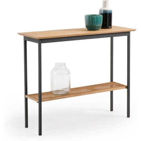 Waska Oak & Rattan Console Table