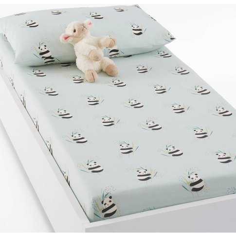VICTOR Panda Print Baby's Cotton Fitted Sheet