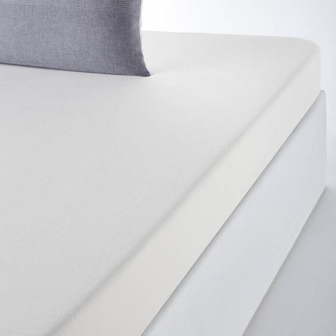 Belle île Woven Cotton Fitted Sheet