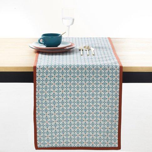 Azila Patterned Table Runner, Blue