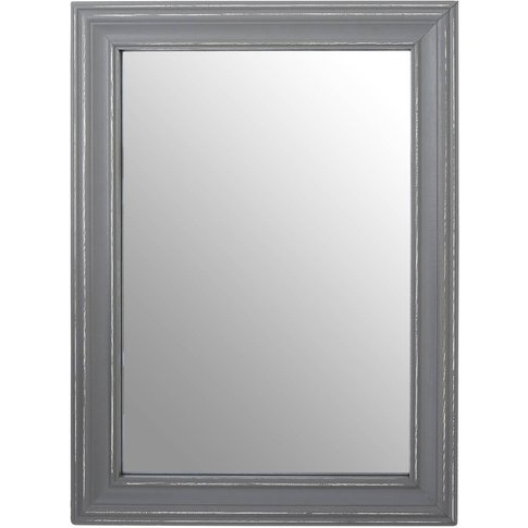 Henley Wall Mirror, Antique Grey Wood Frame