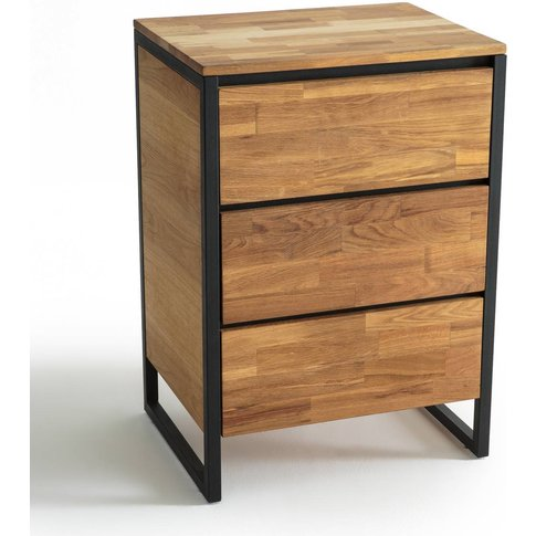 Hiba Wood & Metal Chest Of Drawers