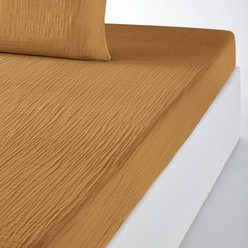 SNOW Plain Cotton Voile Fitted Sheet