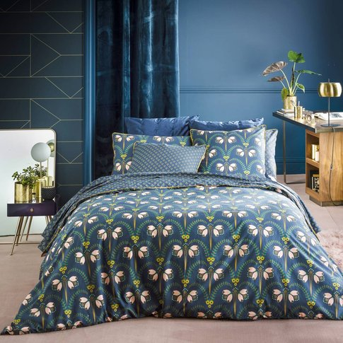 Belladone Percale Printed Duvet Cover