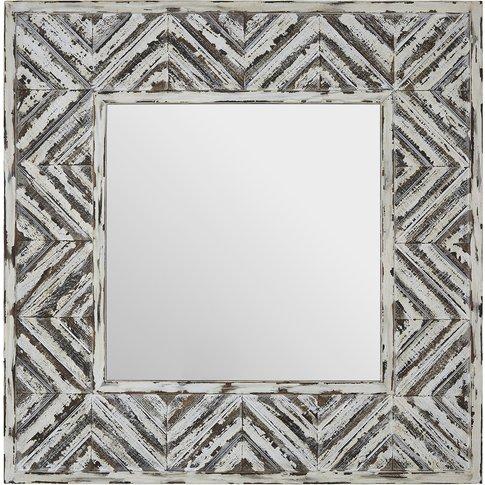Lombok Wall Mirror, Fir Wood Frame
