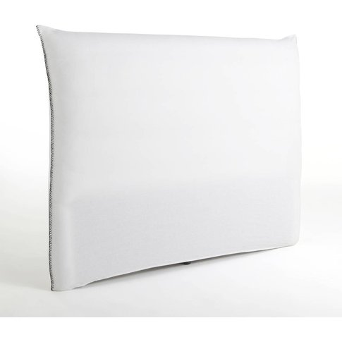 Mereson Pre-Washed Linen Headboard Cover With Overla...