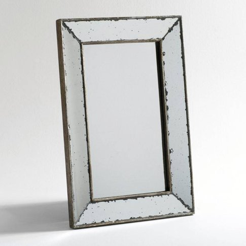 Edwin Large Size Aged Mirror, Width 41 X Height 61cm