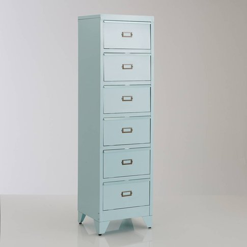 Hiba Metal Storage Unit With 6 Shutter Drawers