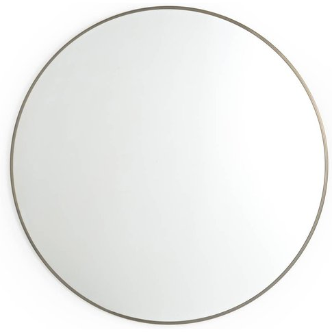 CALIGONE Bronze Metal Round Mirror, Diameter 100cm