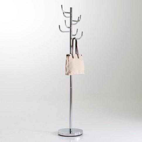 Cactus-Shaped Chrome-Plated Metal Coat Rack