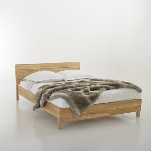 Ariles Joined Solid Oak Bed Without Slats