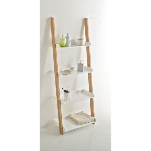 LINDUS Bamboo Ladder 4-Shelf Bathroom Unit