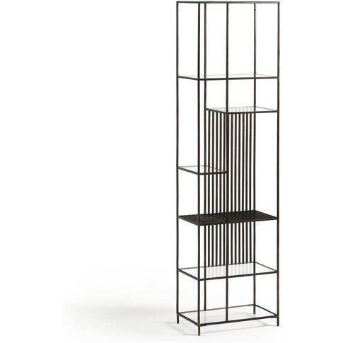 Rectiligne Metal & Glass Bookcase