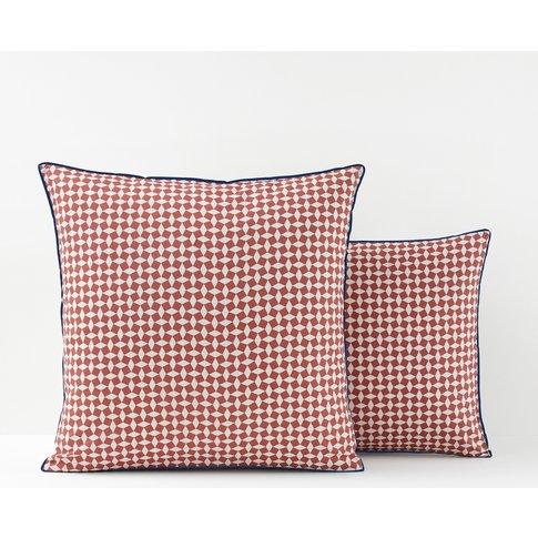 Pink Tie Print Cotton Percale Pillowcase