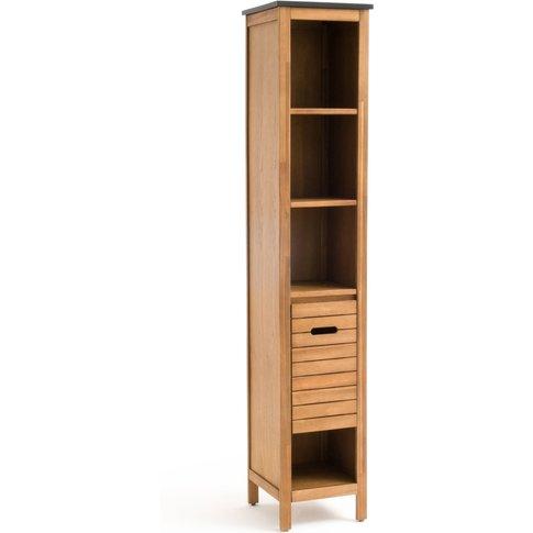 Saturne Slim Acacia Wood Bathroom Cabinet