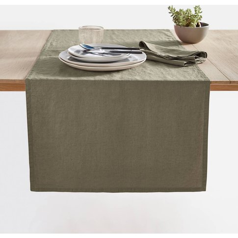 Victorine Pre-Washed Linen Table Runner