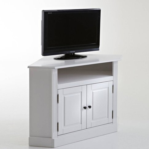Authentic Style Pine Corner Tv Stand
