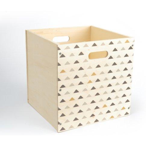 VIDZEN Triangle Print Wooden Storage Box
