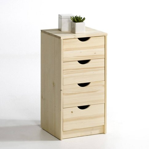 Crawley Solid Pine 4-Drawer Chest Of Drawers