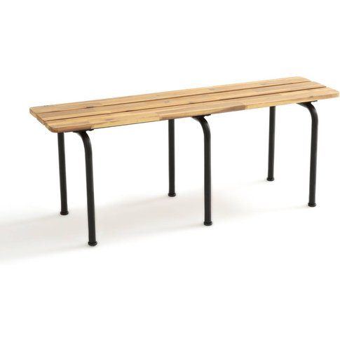 Kolyma Metal and Wood Backless Bench