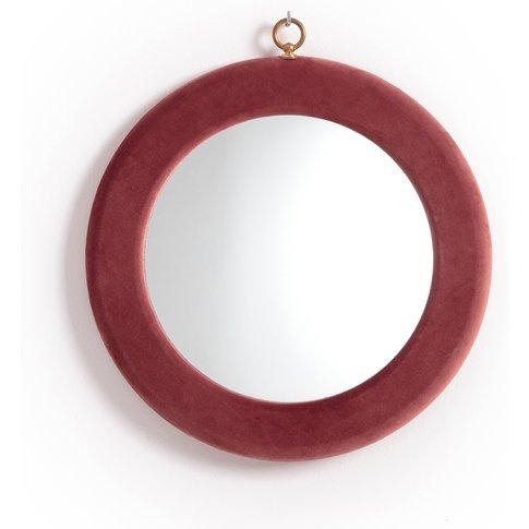 BILLIE BLANKET Round Velvet Frame Mirror