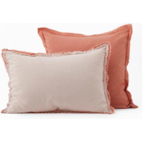 ALHANASIA Fringed Linen Pillowcase