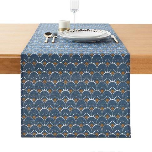 Mina Art Deco Stain Resistant Table Runner