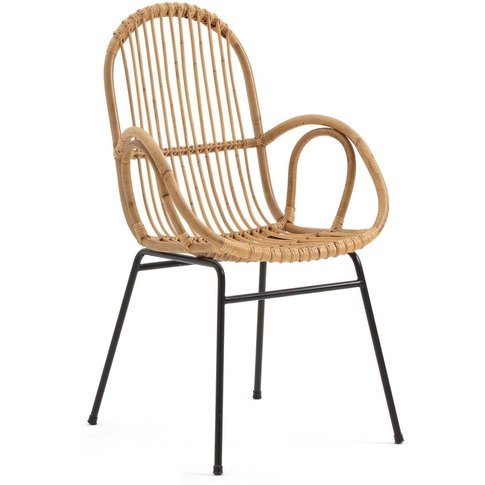 Siona Rattan Cane Dining Armchair