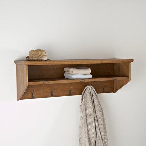 Lindley Pine Coat Rack With Shelf