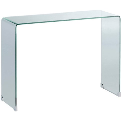 Cristalline Tempered Glass Console Table