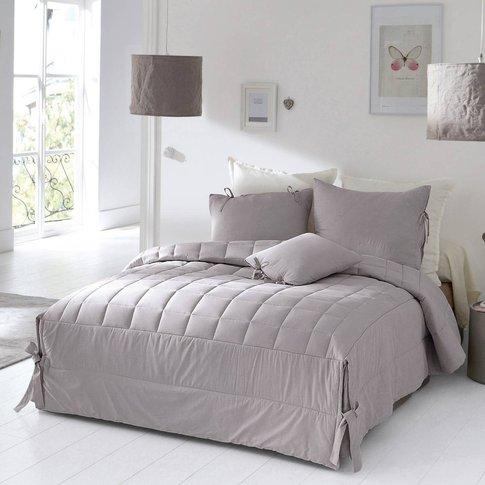 Aimea Quilted Bedspread With Tie Fastening