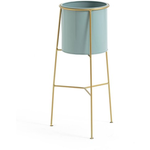 Inaya Metal And Brass Plant Pot & Stand